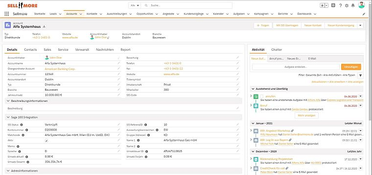 Sellmore-Screenshot-Salesforce-Account-Übersicht-mit-ERP-Informationen